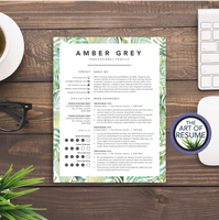 Creative resume template bundle for fashion, stylist, blogger, designer.