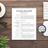 Simple Resume Template - Resume Template for Any Career - Student CV Templates
