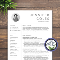 3 Page Resume Version -Resume Template Design with Free Cover Letter and Reference Page, Instantly Download Resumes and CVs Fully Customizable Formats