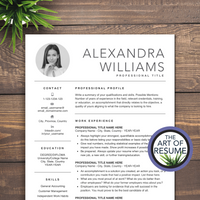 professional resume template bundle instant download with free cover letter