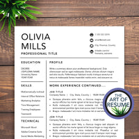 Resume and Cover Letter Template Instant Download