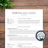Resume Template for Student| Modern Resume No Experience