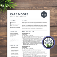 The Art of Resume - Resume Template Design Bundle with Free Cover Letter, Resume Writing Manual, and Resume Action Verb Guide