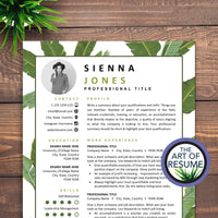 Creative Resume Template - Fashion Resume CV with Photo