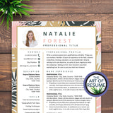 Creative Resume for Fashion, Blogger, Florist, Stylist