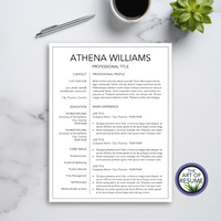 Resume Templates with Free Cover Letter - Instant Download - Printable