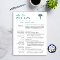 One Page Resume CV Template for RN Nurse, Resumes for Nursing Graduate, Cvs for Doctor, Medical Technician