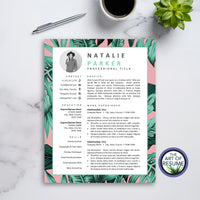 One Page Creative Resume Template for Fashion, Blogger, Designer, Artist, Stylist
