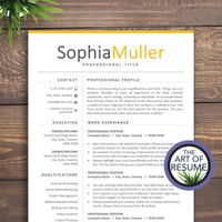 resume cv template one page for microsoft word, apple pages. Instantly download resumes format design.