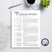 1 Page Resume for Nursing, Medical Technician, Doctor