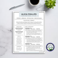 best resume template design blue 1 2 3 page resume cover letter reference page free resumes online instant download custom resumes templates
