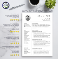 Resume Template Reviews -Resume Template Design with Free Cover Letter and Reference Page, Instantly Download Resumes and CVs Fully Customizable Formats