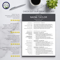 Professional Resume Template | Modern Resume CV with Cover Letter