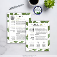 2 Page Resume Template Design - The Art of Resume CV Template Design 2020
