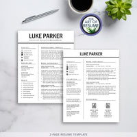 Two Page Resume Example - The Art of Resume - Resumes & Cv Building Bundle with Free Cover Letter & Reference Page
