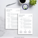 2 Page Resume Design - The Art of Resume - Resume Template Design Bundle
