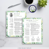 Two Page Templates The Art of Resume - Resumes & CV Bundles with Free Cover Letter