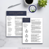 2 Page Executive Resume CV Template Design with The Art of Resume
