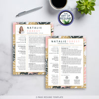 Creative Floral Resume Photo Insert | Stylist, Designer, Fashion, Blogger
