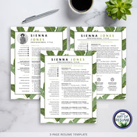 Three Page Resume Template Design - The Art of Resume CV Template Design 2020