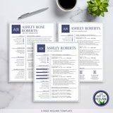 Three Page Resume - Best Professional Resume & CV Template Design 2020