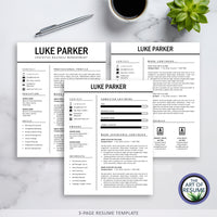 Three Page Resume Example - The Art of Resume - Resumes & Cv Building Bundle with Free Cover Letter & Reference Page