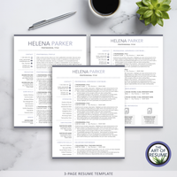 Professional Resume Template, Modern Resume Design with Free Cover Letter