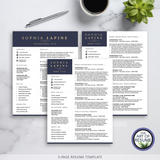 3 page Executive Resume CV Template Design with The Art of Resume