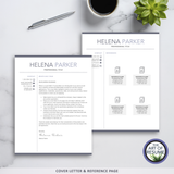 Best resume cv template designs for microsoft word & apple pages, with free cover letter and reference page