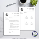 Free Cover Letter & Reference - 3 Page Resume Version -Resume Template Design, Instantly Download Resumes and CVs Fully Customizable Formats