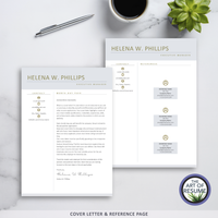 Resume Template Design with Free Cover Letter, Professional Resumes, CV Templates
