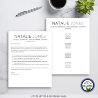 ATS-Friendly Resume CV Template Bundle with Free Resume Writing Guide - Mac & PC - Cover Letter & Reference Page
