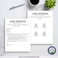 Free Cover Letter & Reference Page - The Art of Resume - Resumes & CV Custom Templates Instantly Download