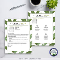 Creative Resume CV Template Design Bundle Instant Download with Free Cover Letter 2020