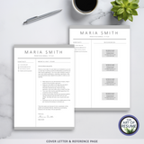 The Art of Resume - Resume and CV Template Designs with Free Cover Letter & Reference Page