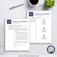 Free Cover Letter & Reference Page - Best Professional Resume & CV Template Design 2020