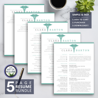Nurse Resume Template - RN Nursing Resumes - Medical Doctor CV