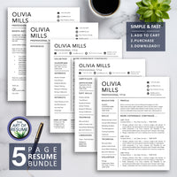 5 Page Resume Bundle with the Art of Resume