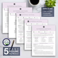 The Art of Resume CV Template Design Bundle Builder 2020 - Free Cover Letter Included