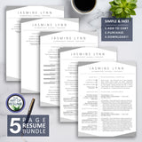Professional Resume Template Design Builder BundleProfessional Resume Template Design Builder Bundle