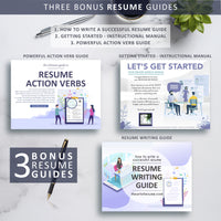 Creative Resume CV Template Design Instant Download with Free Cover Letter 2020
