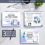 Resume Writing Guide, Resume Action Verb Guide, Resume Instructional Manual