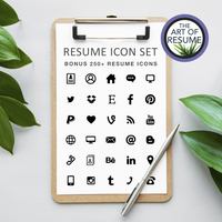 Free Resume Icons - The Art of Resume Designs -Resume Template Design with Free Cover Letter and Reference Page, Instantly Download Resumes and CVs Fully Customizable Formats