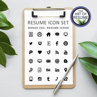 Bonus Free Resume Icons included in resume cv template bundle