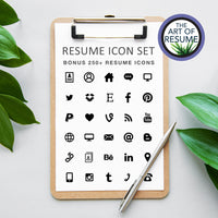 Resume Icons - The Art of Resume - What's Included Resume & CV Builder Bundle with Free Cover Letter
