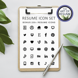 Resume Icons - resume cv template one page for microsoft word, apple pages. Instantly download resumes format design.