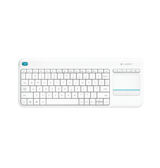 Logitech Wireless Touch Keyboard K400 Plus - White