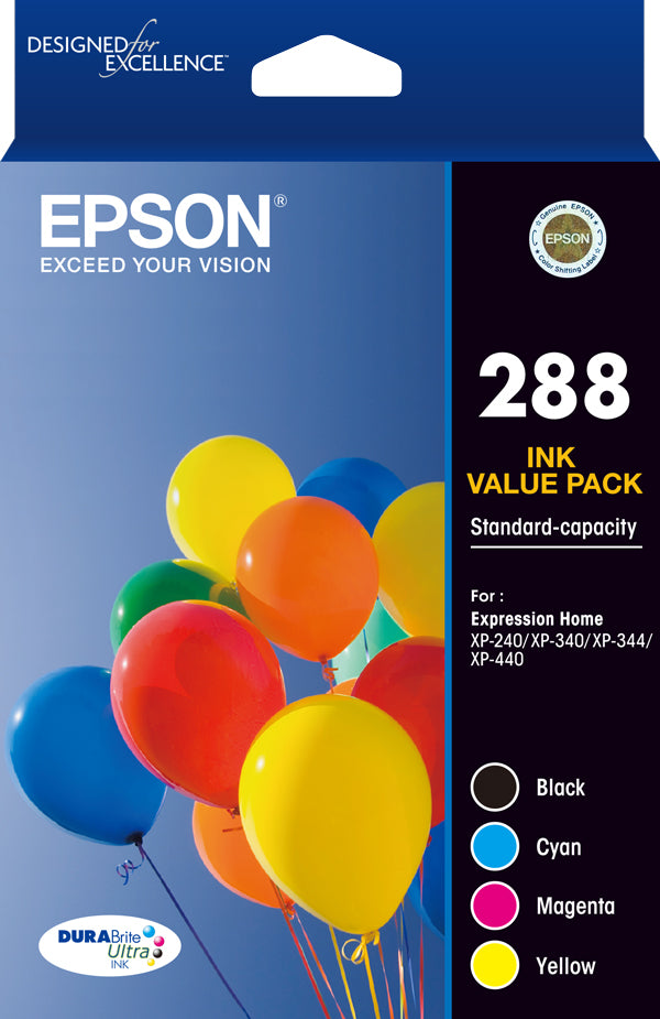 Epson 288 - 4 set colour ink pack   - XP-240 XP-340 XP-440