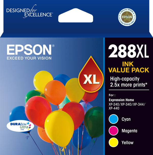 Epson 288XL 3 colour Ink Pack  DURABrite  - XP-240 XP-340 XP-440