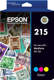Epson 215- Pigment Colour ink(Epson WorkForce WF-100)